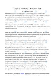 Hvad gør en Fugl | Analyse | Charlotte Weitze | 12 i Karakter