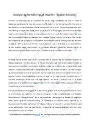 Maries historie   Analyse   Christina Hesselholdt   12 i Karakter