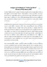 Torben og Maria | Noter Analyse | Naja Marie Aidt