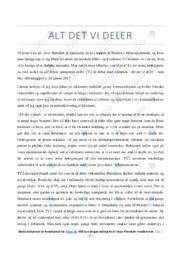 Alt det vi deler | Analyse | TV2 | 10 i Karakter