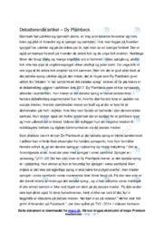 Vi har sønderrevet det danske sprog   Analyse   Dy Plambeck