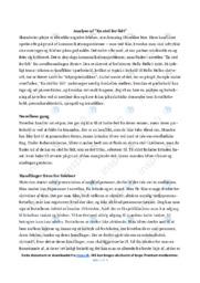 En stol for lidt | Analyse | Helle Helle | 12 i Karakter