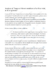 Analyse af Christina Anderskovs kronik | Gode noter