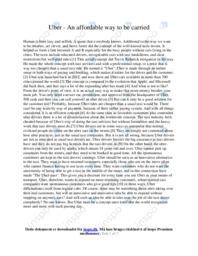 Uber | Essay | 10 i karakter