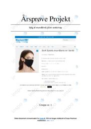 Salg af mundbind på webshop | Kommunikation og IT | Årsprøve
