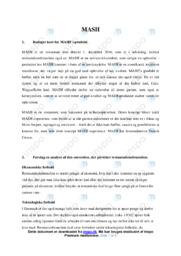 MASH | Noter til analyse | Afsætning