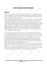 Den danske charterbranche | Analyse