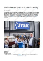 Jysk | Virksomhedskarakteristik | 10 i karakter