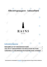 Rains | Købsadfærd | 10 i karakter