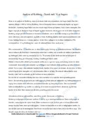 Kohberg | Analyse | 10 i karakter