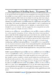The Importance Of Reading Books   Essay   10 i karakter