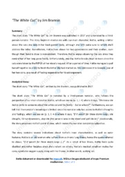 'The White Cat'   Summary and analysis   12 i karakter