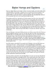'Better Homes and Gardens' | Analytical essay | 10 i karakter