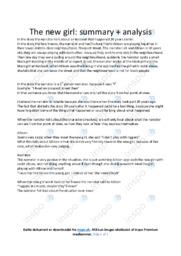 'The new girl' | Analytical essay | 10 i karakter