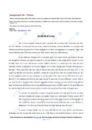 'Sea Defences' | Analytical essay | 12 i karakter
