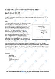 Afstandskvadratloven for gammastråling | 10 i karakter