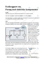 Elektriske komponenter | Forsøg | 10 i karakter