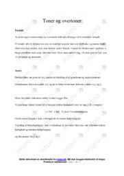 Toner og overtoner   Opgave   10 i karakter