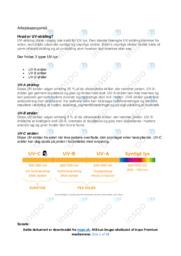 UV stråling | Opgave | 10 i karakter