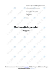 Matematisk pendul   Rapport   12 i karakter