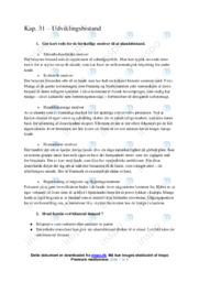 Udviklingsbistand | Kapitel 31 | IØ noter