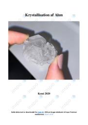 Krystallisation af Alun og Natrons omddanelse | Rapport