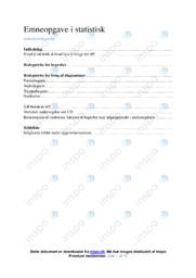 Emneopgave i statistisk   Matematik   10 i karakter