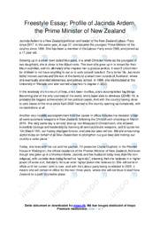 Profile of Jacinda Ardern | Essay | 12 i karakter