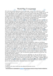 World War Z | Essay | 12 i karakter