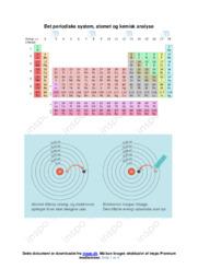 Det periodiske system   Kemisk analyse
