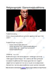 Diamantvejsbuddhisme | Projekt | 12 i karakter