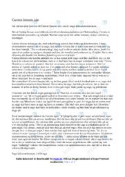 Tale   Analyse   Carsten Jensen   10 i Karakter