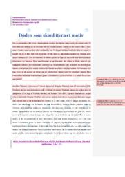 Døden i litteraturen   Analyse   Birgitte Tindbæk    10 i Karakter