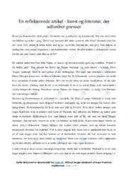 Frihed er det bedste guld | Analyse | Poul Erik Tøjner