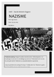 Nazisme | DHO | 10 i karakter