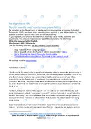 Social media and social responsibility | Speech | 12 i karakter
