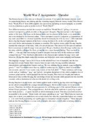World War Z   Essay   10 i karakter