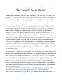 'Day Trippers'   Analytical essay   10 i karakter