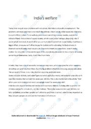 India's welfare   Essay   10 i karakter