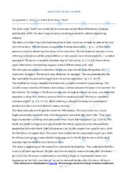 'Noel' | Analytical essay | 10 i karakter