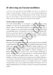 Opgave & Diskussion om Ukraine konflikten – Samfundsfag