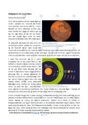 Muligheden for liv på Mars   10 i karakter