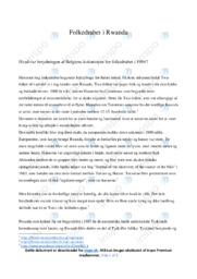 Folkedrabet i Rwanda   Historie   10 i karakter