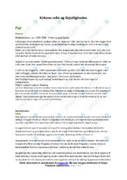 Kirkens rolle og Gejstligheden   Historieopgave   10 i karakter