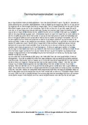 Danmarksmesterskabet i e-sport | 12 i karakter