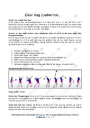 Bevægelsesanalyse af Clear slag | 10 i karakter