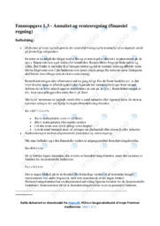Annuitet og rentesregning   Emneopgave   12 i karakter