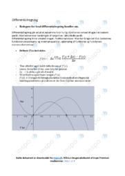 Differentialregning | Emneopgave | 10 i karakter