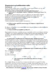 Hypotesetest og konfidensintervaller   Emneopgave