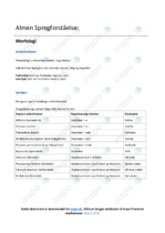 Almen Sprogforståelse noter | Over 10 sider